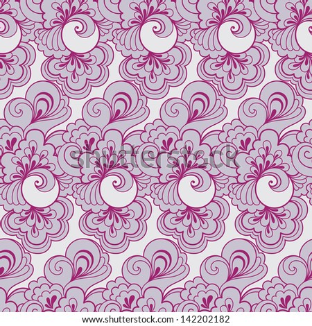 Seamless violet retro pattern in vector