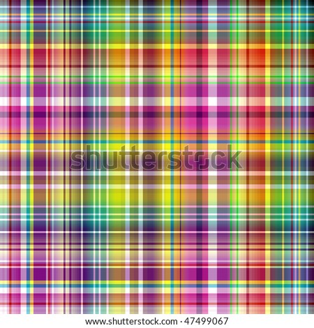 Seamless vivid rainbow checkered  pattern (vector EPS 10) - stock vector