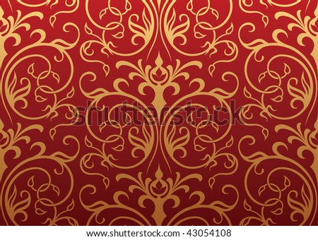 Seamless wallpaper - stock vector