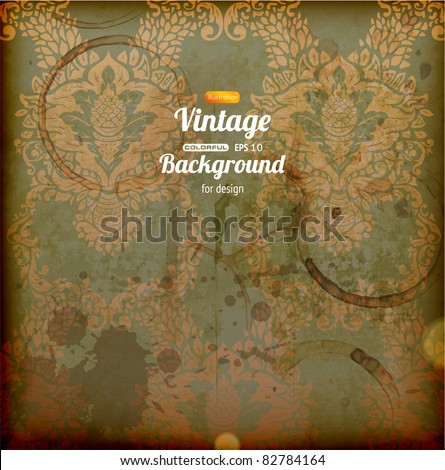 Seamless wallpaper background for retro design with grunge - stock vector