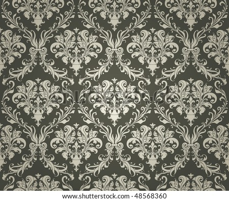 Seamless Wallpaper Background, vector - stock vector