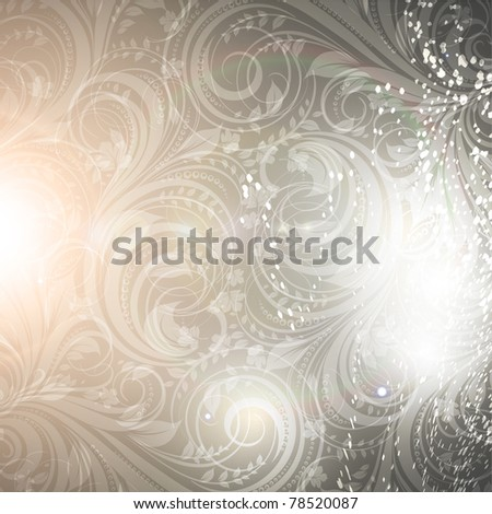 Seamless Wallpaper Background with sun shine, glow sparks and stars. Colorful summer design. eps 10. - stock vector