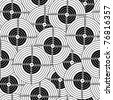 Seamless wallpaper black target - stock vector