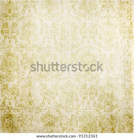 Seamless wallpaper for vector retro background - stock vector