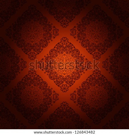 Seamless wallpaper pattern, chocolate color. eps 10. - stock vector