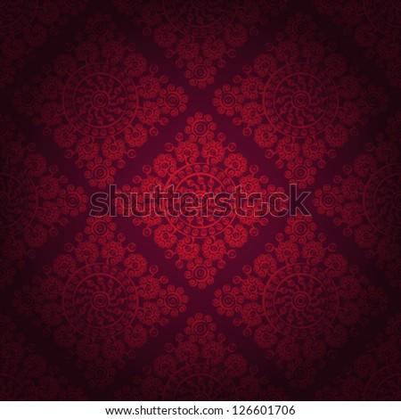 Seamless wallpaper pattern, eps 10. - stock vector