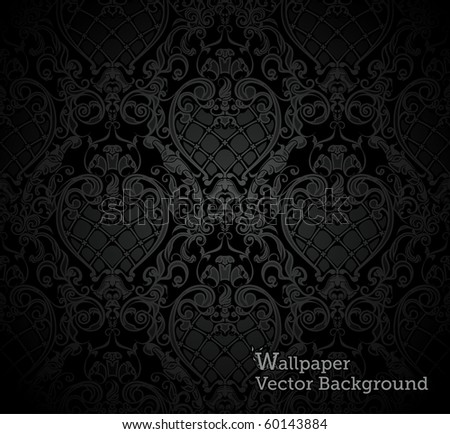 Seamless wallpaper pattern, vector - stock vector