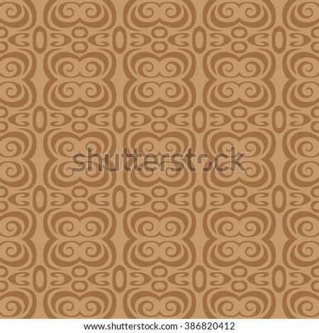 seamless wallpaper. retro repeating pattern. The brown pattern - stock vector