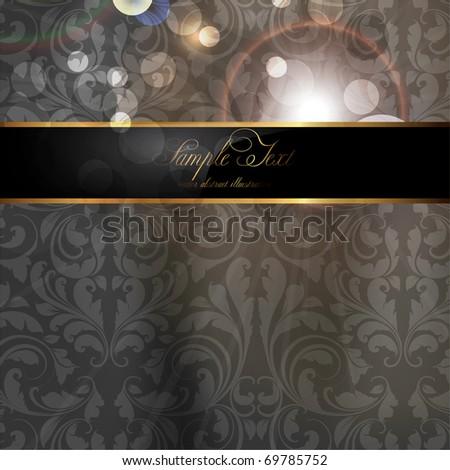 Seamless Wallpaper, Vector Background, Silk, black - stock vector