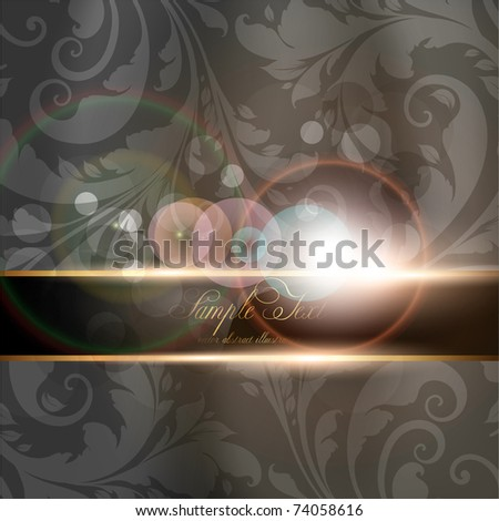 Seamless Wallpaper, Vector Background, Silk. Black. - stock vector
