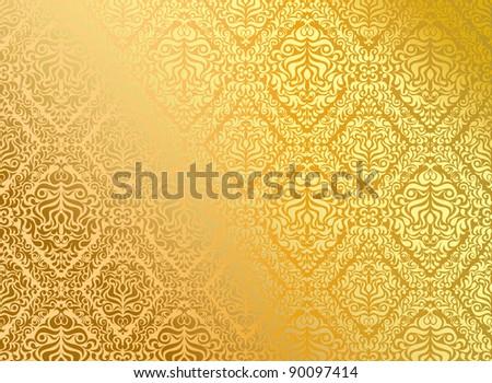 Seamless wallpaper, vector illustration - stock vector