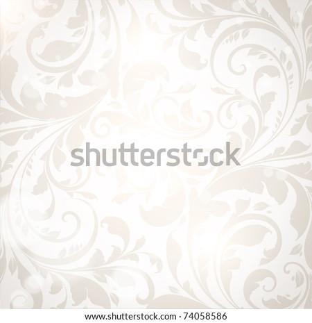 Seamless Wallpaper, Vector Spring Background. eps 10. - stock vector
