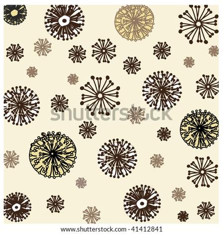 Seamless wallpaper with dandelions. Vector. - stock vector
