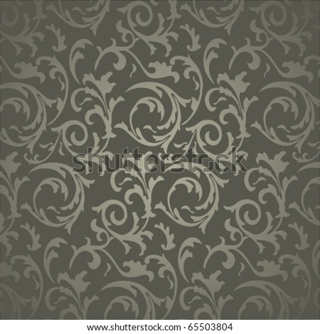 Seamless Wallpaper with floral ornament - stock vector