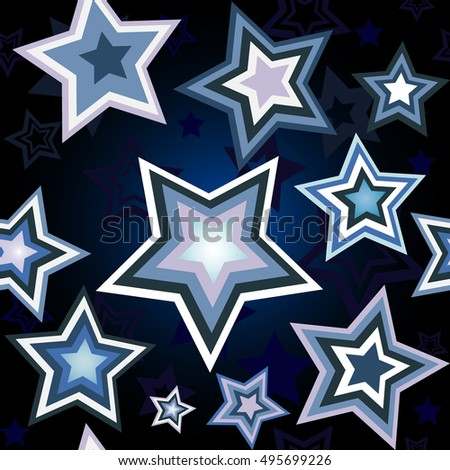 Seamless wallpaper with star pattern