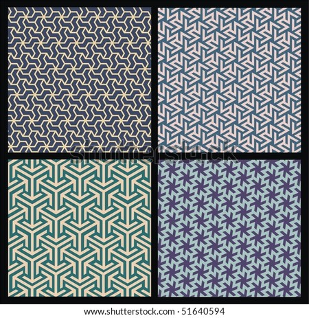 Seamless wallpapers - stock vector
