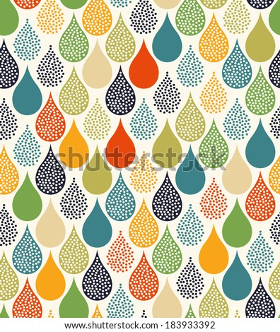 seamless water drops pattern - stock vector