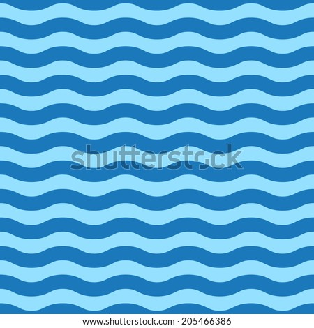 Seamless wave pattern. Vector illustration - stock vector