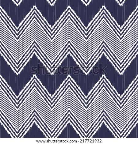 seamless wave zigzag chevron pattern - stock vector
