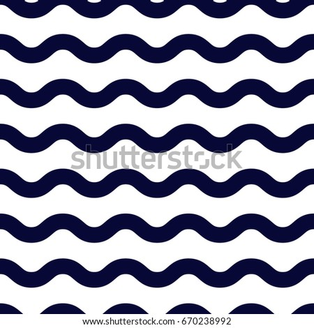 Seamless waves on white background