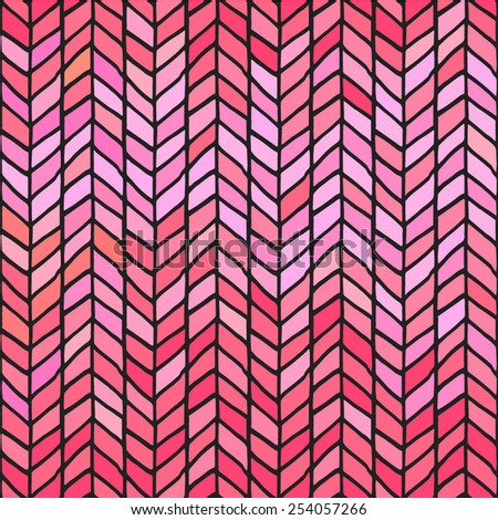 seamless weaving braids chevron stained parquet - stock vector