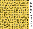 Seamless web icons pattern. Vector illustration. - stock photo