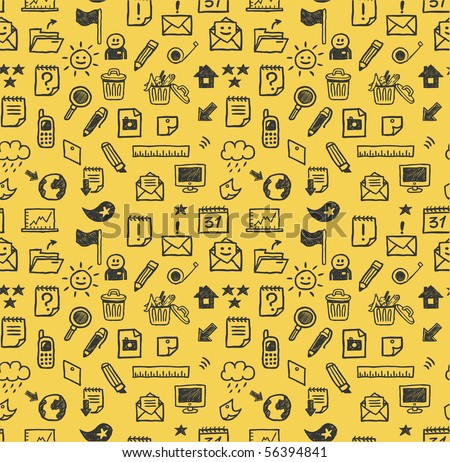 Seamless web icons pattern. Vector illustration.