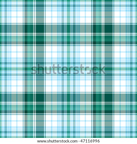 Seamless white and turquoise diagonal pattern (vector, EPS 10) - stock vector
