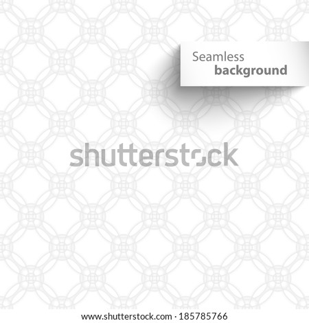 Seamless white circle geometric texture. Vector illustration - stock vector