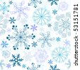 Seamless white, dark blue, blue and lilas pastel christmas pattern (vector) - stock vector