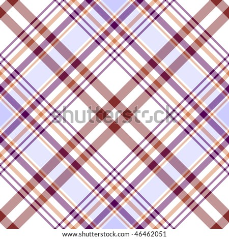 Seamless white, lilas and brown diagonal pattern (vector, EPS 10) - stock vector