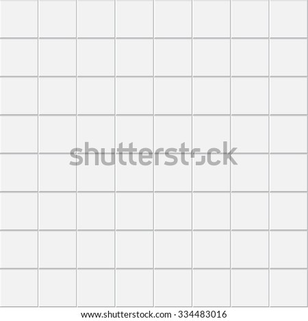 seamless white tiles texture pattern, vector - stock vector