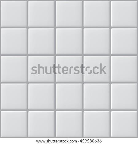 Seamless white tiles vector illustration. - stock vector