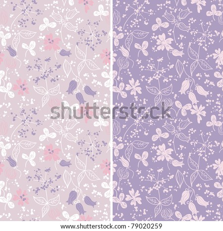 Seamless wildflower pattern - stock vector