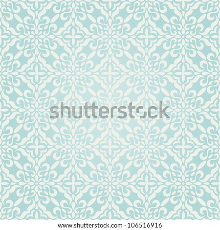 Seamless winter ornament. EPS 8 vector illustration. - stock vector