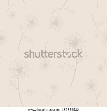 seamless with dandelions - stock vector