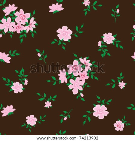 seamless with roses - stock vector
