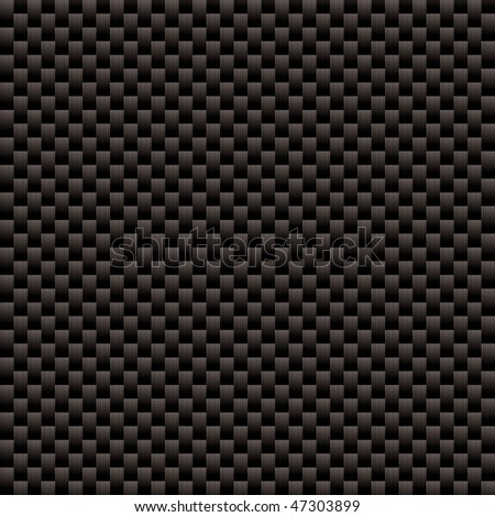 Seamless woven carbon fiber illustrated vector background with repeat pattern texture - stock vector