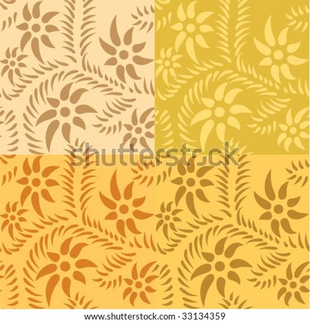 seamless yellow pattern - stock vector