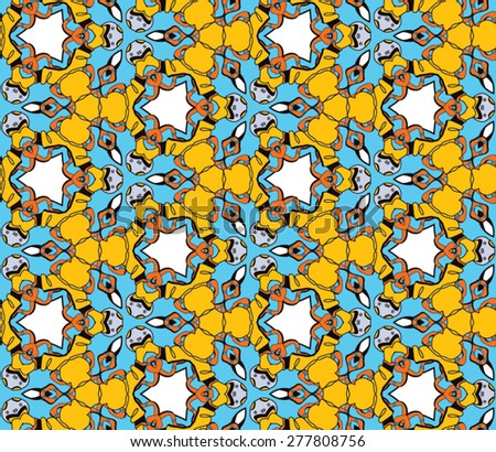 Seamless yellow pattern eps10 - stock vector