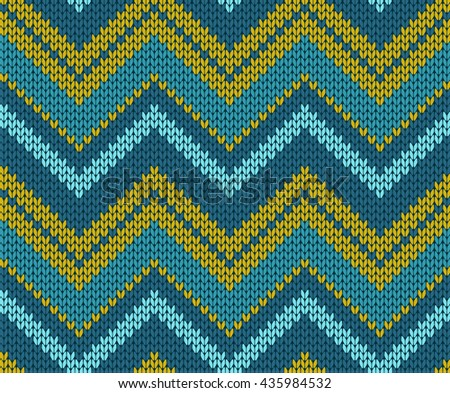 Seamless Zigzag Knitted Pattern Stock Vector (2018) 435984532 ...