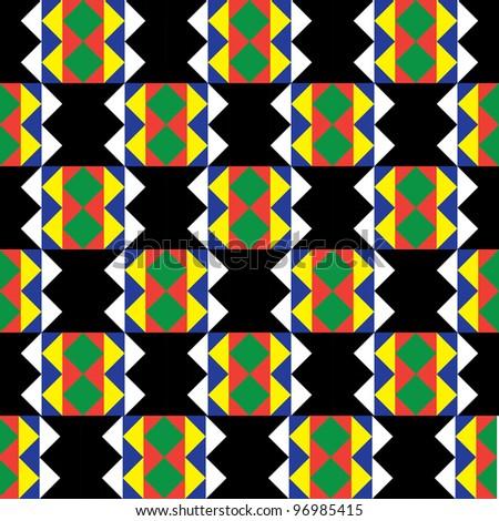 Seamless Zulu Pattern - stock vector