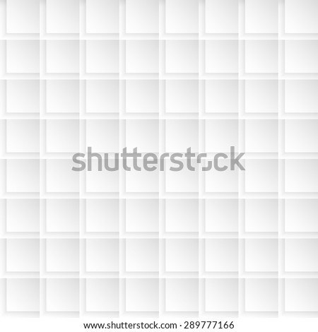 Seamlessly tiling background texture made of simple geometric squares with 3d shadow effects. - stock vector