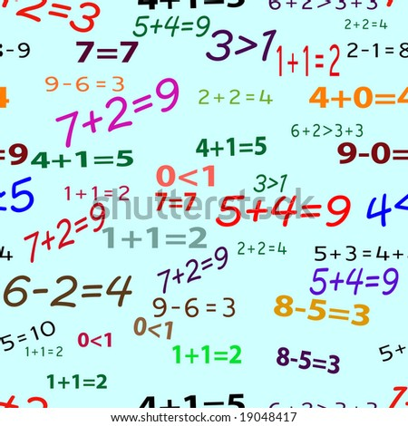 Seamlessly vector wallpaper funny mathematics