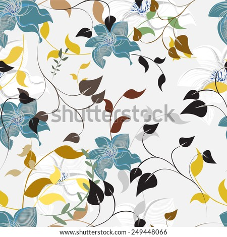 Seamples Flower illustration  Floral Pattern Texture Art - stock vector