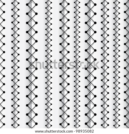 Seams seamless pattern, vector background. - stock vector