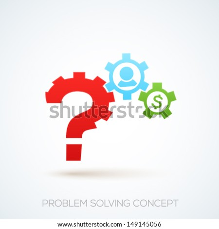Search and problem solving concept design. Vector illustration. - stock vector