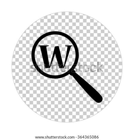 Search  - black vector icon - stock vector