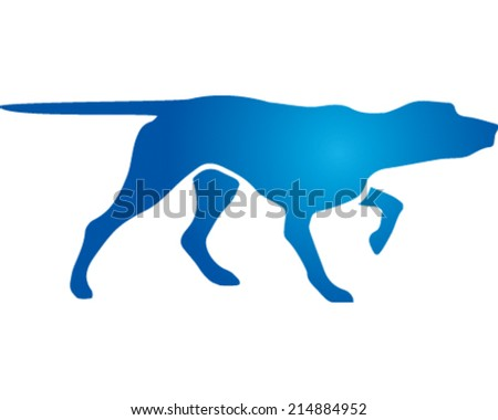 Search Dog - stock vector