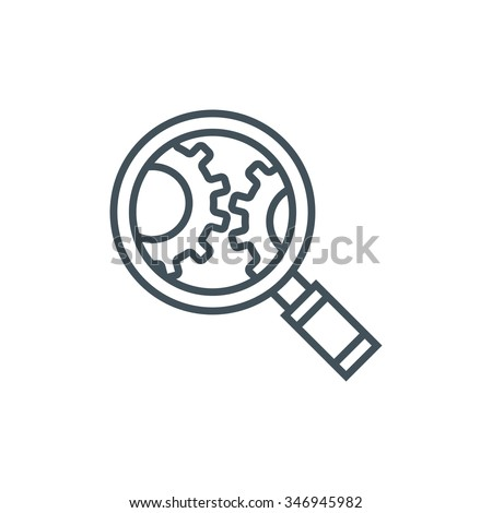 Search engine optimisation icon suitable for info graphics, websites and print media and  interfaces. Line vector icon. - stock vector